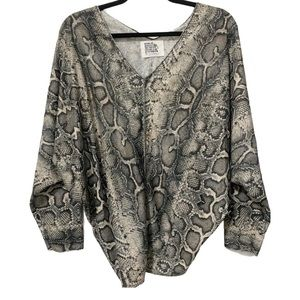 Cozy Snake Print Dolman Sleeve Top